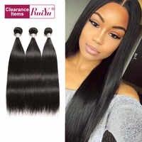 Brasilianische Haarwebart Bundles RUIYU Gerade Haar Bundles Menschliches Haar Extensions 3/4 Bundles Remy Haar 8-30 Zoll Natürliche farbe