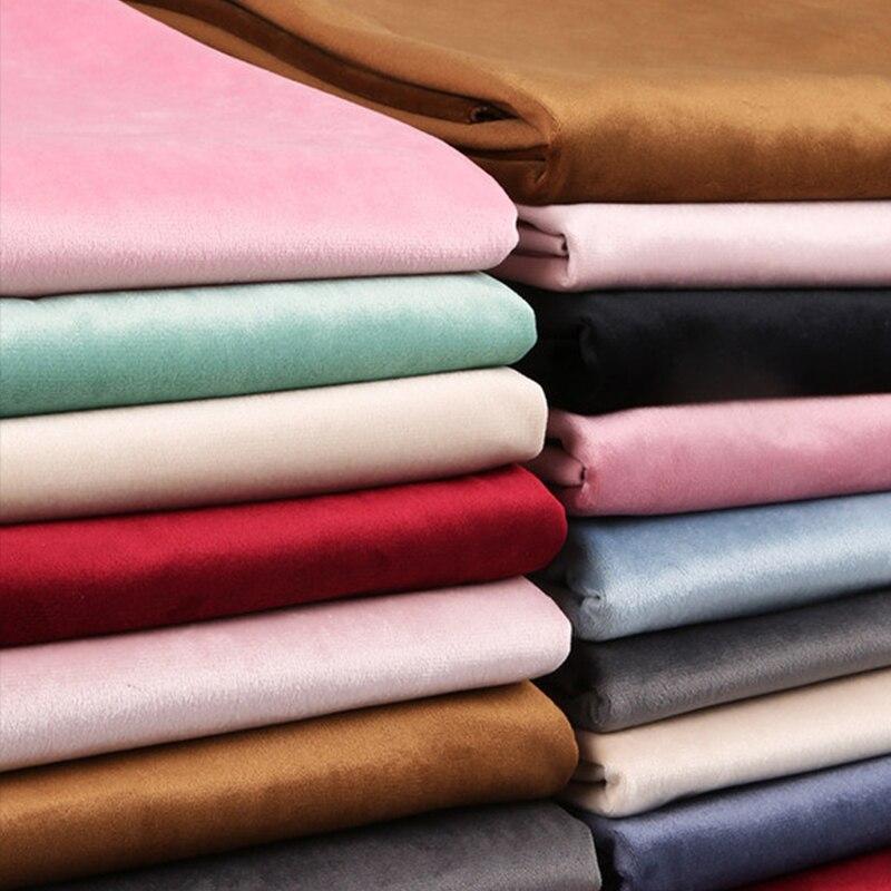 100*150 см бархатная ткань утолщенная матовая плюшевая Высококачественная бархатная занавеска Подушка Диван платье ткань «сделай сам» Ручное...