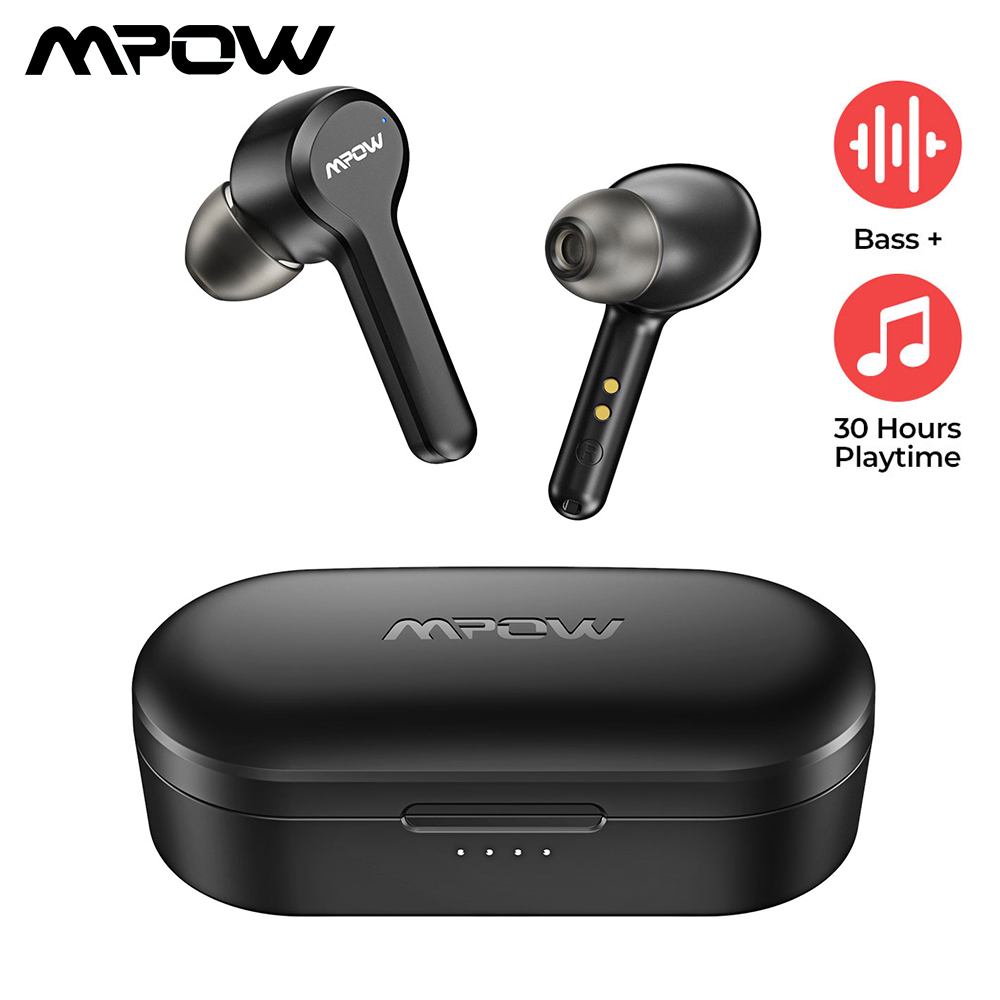 Upgraded Mpow <font><b>M9</b></font> <font><b>TWS</b></font> Earbuds True Wireless Bluetooth 5.0 Headphone IPX7 Waterproof Earphone with Charging Case For iPhone 11 XS image