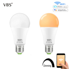 цены Smart Bulb WIFI Dimmable brightness Light LED Bulb 15 W E27 B22 Amazon Alexa Google Home  IOS/Android Remote Control LED Lamp