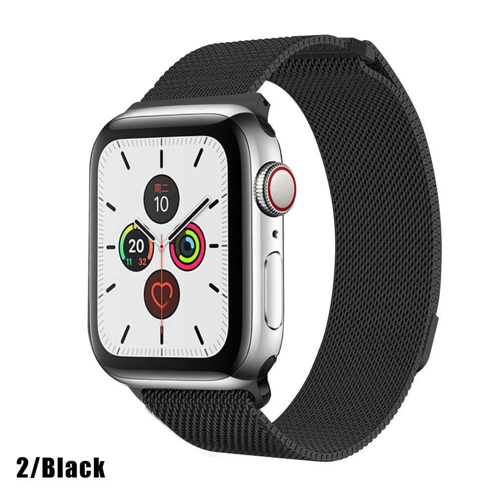 Milanese döngü paslanmaz çelik kayış Apple için İzle serisi 1/2/3/4 42mm 38mm bilezik Band iwatch serisi 5 40mm 44mm aksesuarları