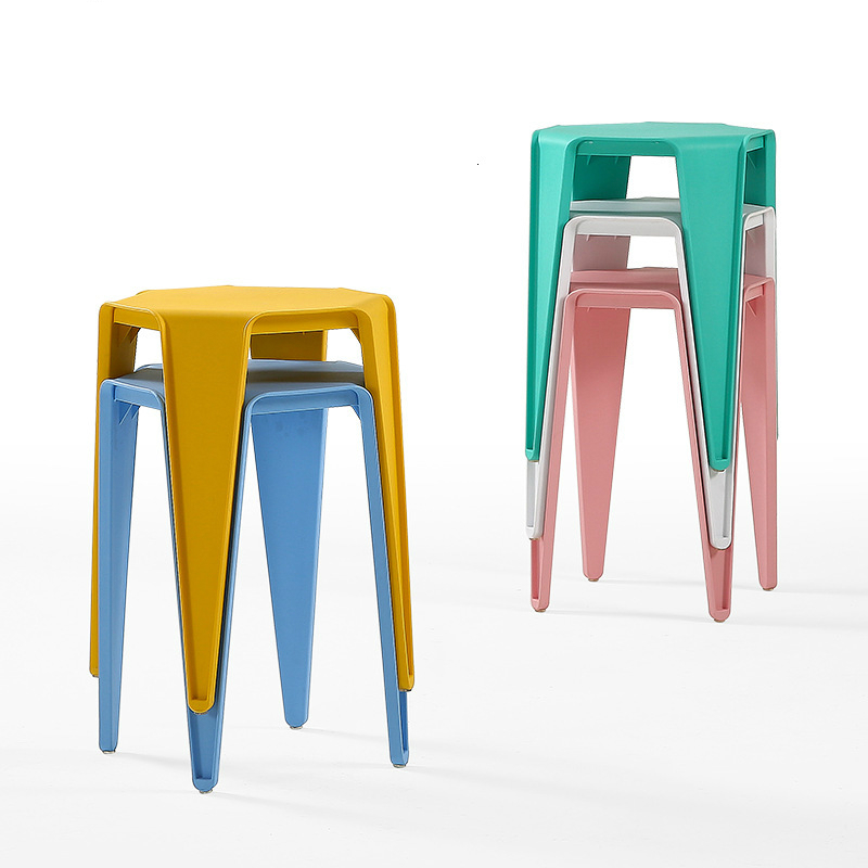 Plastic Stool Household Thickening Modern Concise Adult Table Stool Northern Europe Type Ins High Stool The Bench