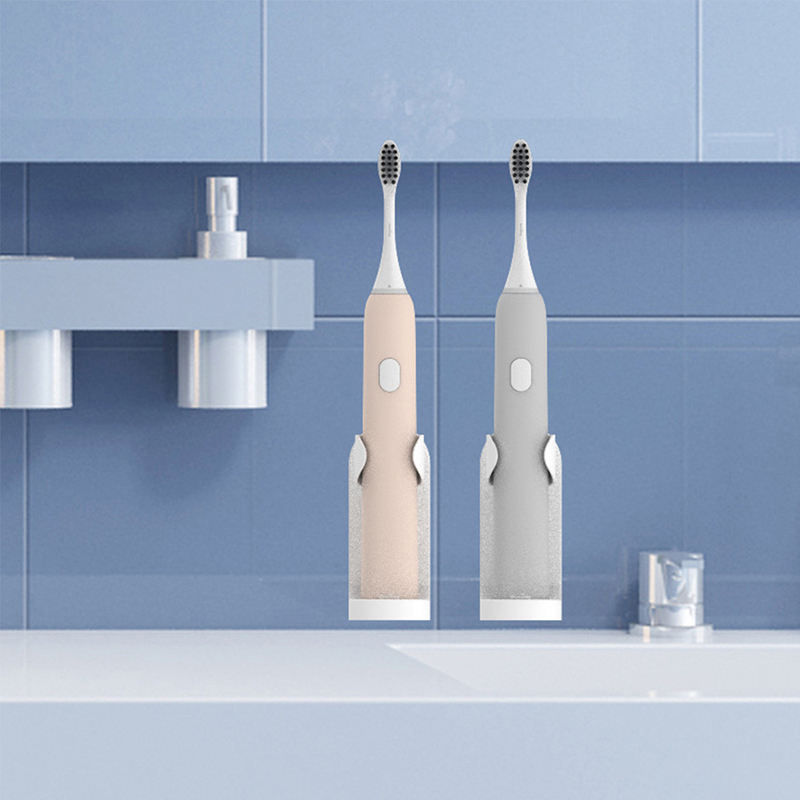 2PCS Electric Toothbrush Wall Mount Holder Traceless Toothbrush Stand Rack Set Removable Vertical Brush Rack Bathroom Gadgets image