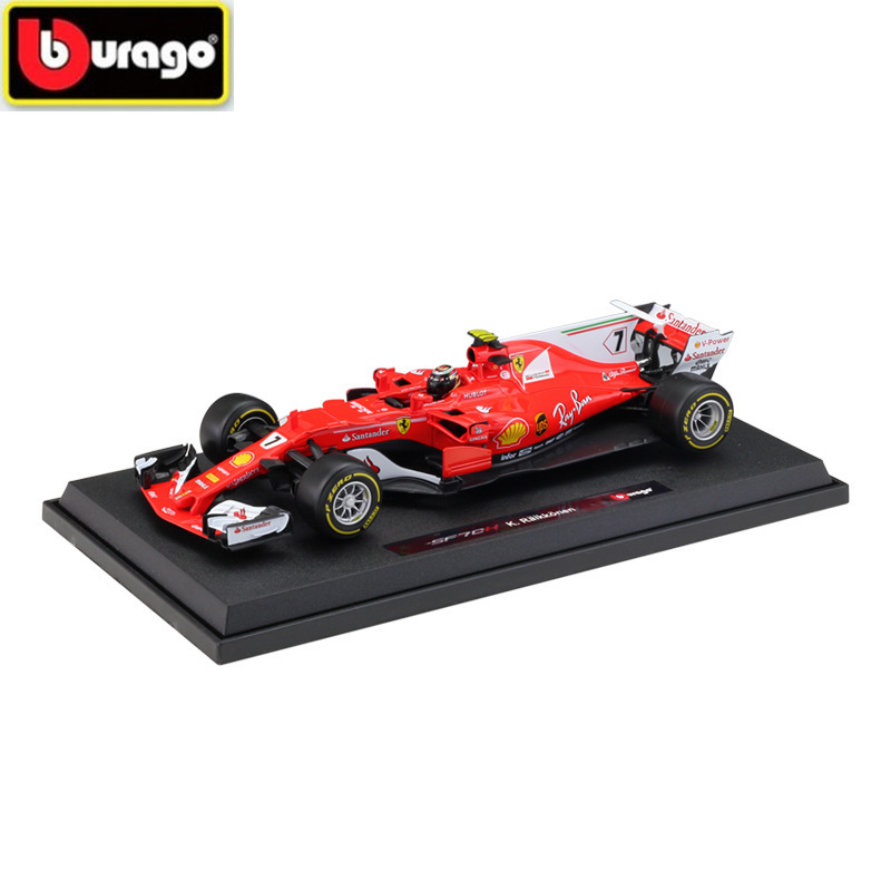BBURAGO 1:18 <font><b>F1</b></font> <font><b>2018</b></font> FERRAR SF71H Die-casting Formula Racing Model Alloy Car Model Collection Decoration Gift Free Shipping image