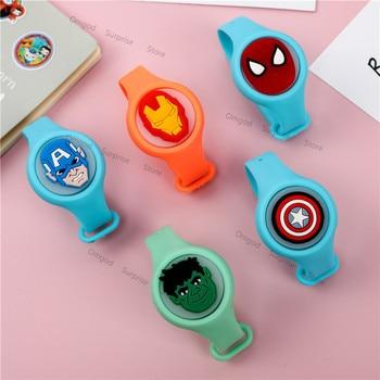 Disney Cartoon Marvel Avengers Wristband Anime Toy Unisex  Captain America Hulk Iron Man Spider Birthday Gift for Kids
