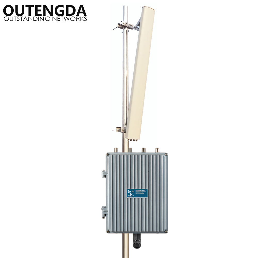 1200Mbps 11AC exterior WiFi AP repetidor inalámbrico CPE ampliador de WiFi 2,4G y 5,8G punto de acceso inalámbrico WiFi señal Booster AP Kits Antena 5G WiFi de doble banda 6DBi omnidireccional, Conector de clavija, Base magnética 667C