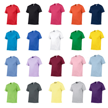 S-5XL Plus Size Cotton T Shirt Men Solid Color Tshirt Gym Fitness T-Shirt for Male Soft Breathable T