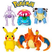 Pokemon figuras brinquedos anime estatueta pokemon pikachu charizard mewtwo squirtle pokemon figura de ação crianças modelo bonecas