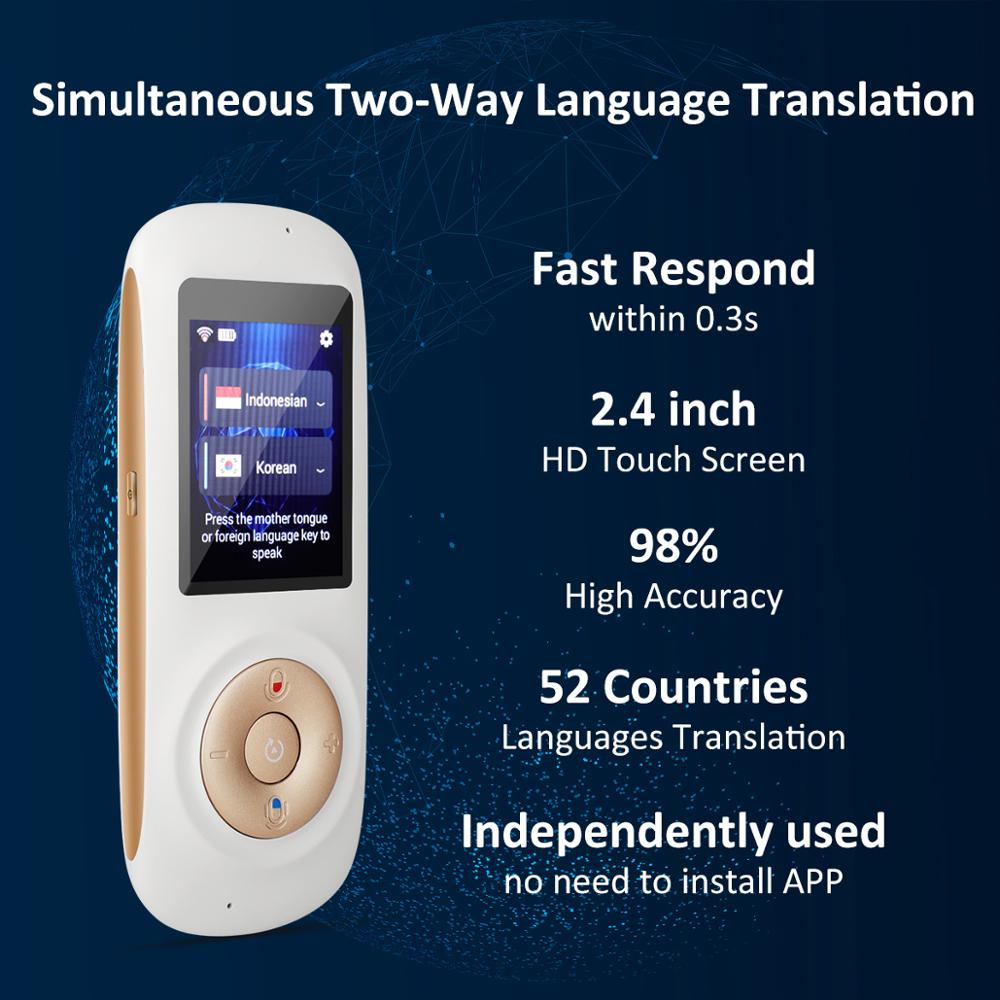 Smart Portable Instant Voice Translator Support 70 Countries Language Two-way Translation Multi-Language