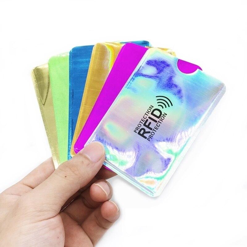 1-20pcs Anti Rfid Card Holder NFC Blocking Reader Lock Id Bank Card Holder Case Business Card Holder