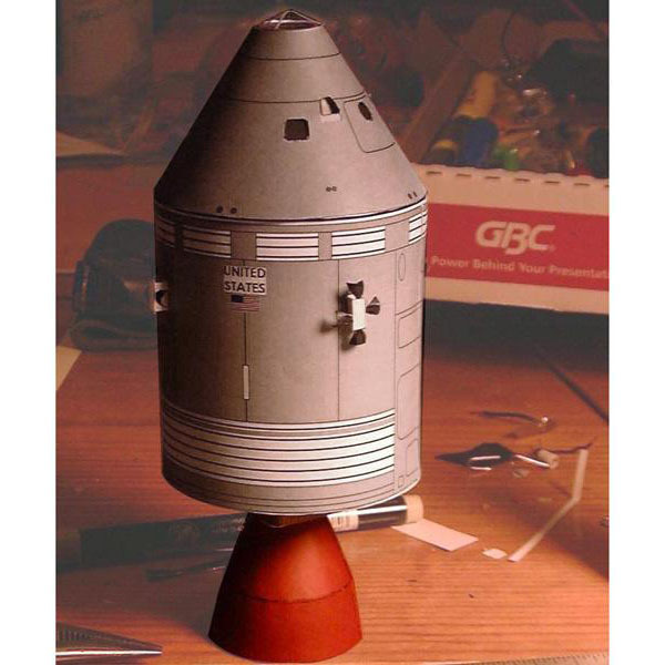 Satellite SM48 3D Paper Model DIY Puzzle Kiss Hand-made Toy Origami 1
