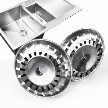 Stainless Steel Kitchen Sink Drain Strainer Cover Bathroom Washroom Sink Basin Bath Tub Shower Waste Filter image