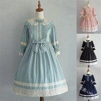 Vogue Europe Vintage Retro Lacework Half Sleeve Princess Dress Girls Plus Size Elegant Court Style Alice Lolita Dress Cosplay