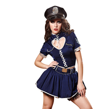 Halloween Sexy Women Police Dress Costume Policewomen Role Playing Cop Outfit Girls Erotic Performance Cosplay Uniforms