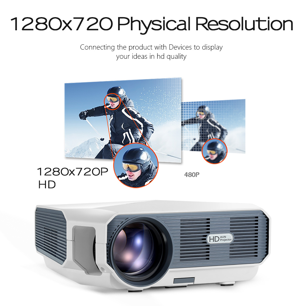 Image 3 - AUN MINI Projector ET10, 1280x720P, 3800 lumen, Optional (Mirroring / Android Version),LED Projector for 1080P Video 3D beamer-in LCD Projectors from Consumer Electronics