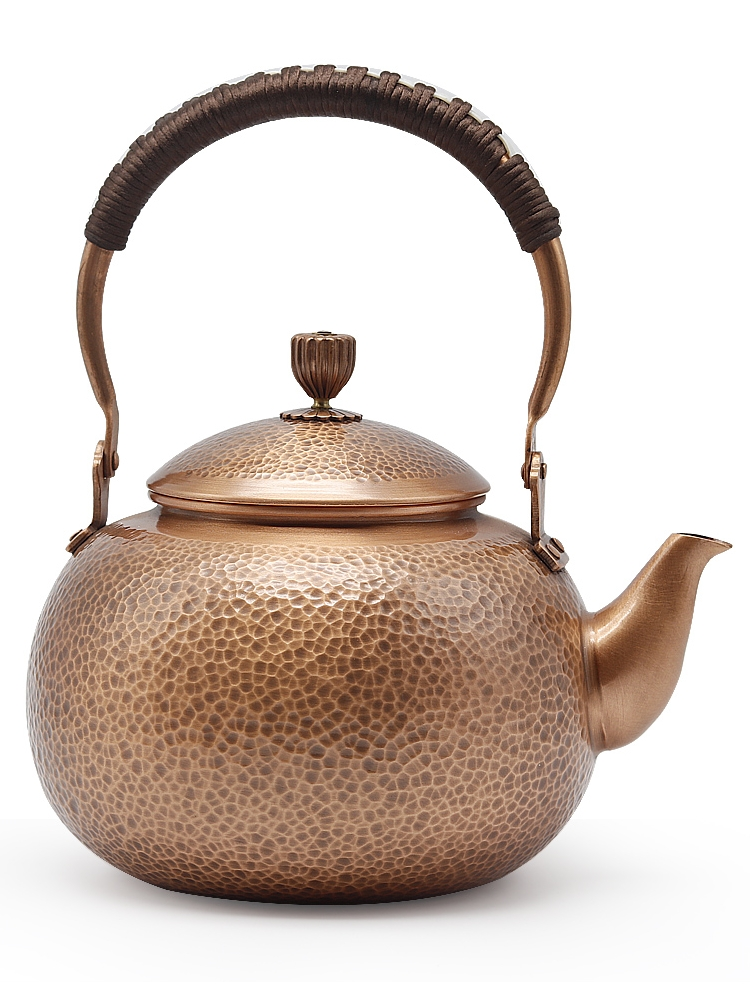Copper Pot Kettle Teapot Pure Copper Handmade Copper Thickening Health Pot Vintage Retro Tea Gift Tea Set