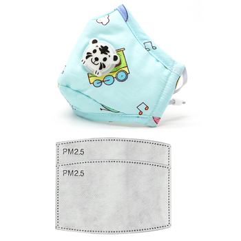 PM2.5 Washable Children Mouth Mask Flu Respiratory Valve Cartoon Thicken Smog Mask Warm Dust Mask Fits 2-10 Years Old Kid Muffle
