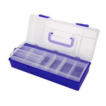 Cajas de aparejos de pesca 2 capas de carnada de pesca caja de almacenamiento señuelo anzuelos mosca caña de transporte