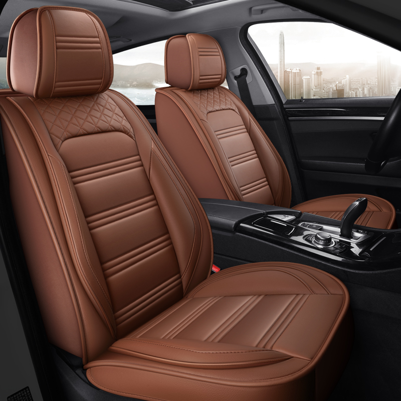 Eco-leather black//beige Car seat covers fit PEUGEOT 5008