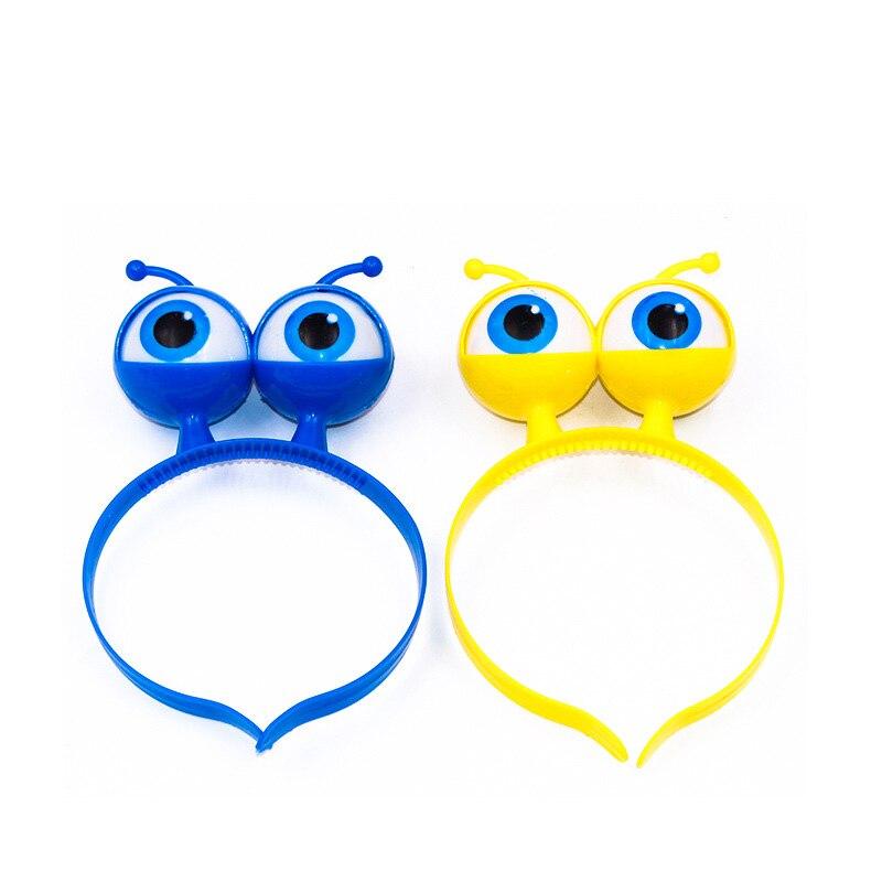 Newly LED Eyeball Headband Light Up Alien Head Headwear Flashing Eyeball Headpiece For Halloween Concerts M99