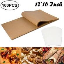 Poêle à Air pour Barbecue, papier antiadhésif pour cuisson à la vapeur, 100 pièces, plaque de cuisson en papier parchemin, Outil de cuisine