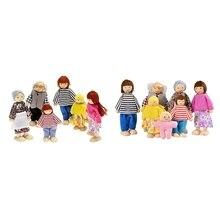 2 набора счастливой куклы семьи игрушки(одежда случайная), 6 человек и 7 человек