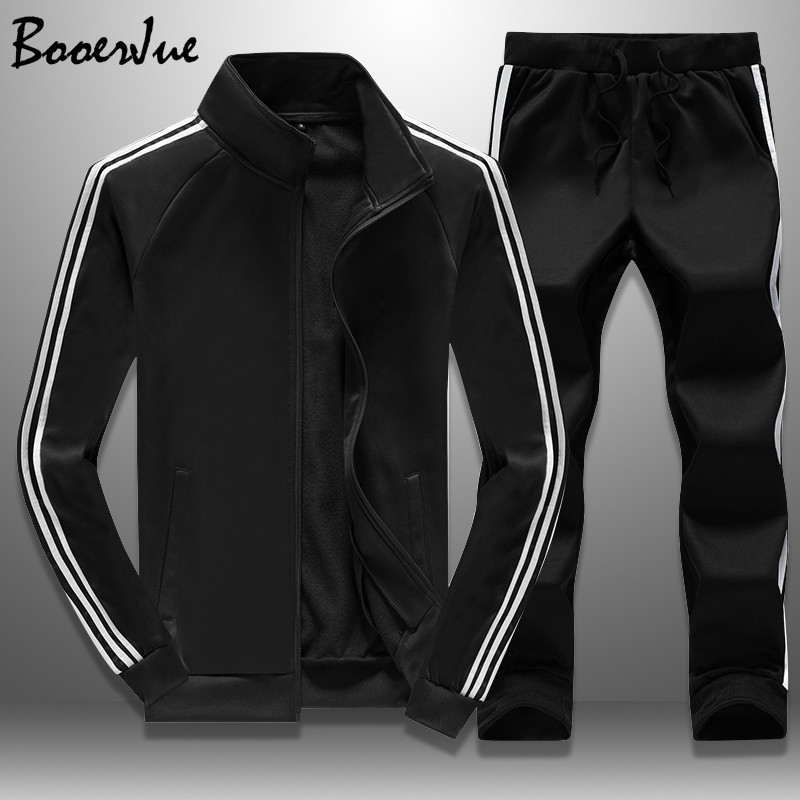 Casual Tracksuit Men Autumn Zipper Jackets+Pants 2 Pieces Sets Sportswear Mens Tracksuit Slim Fit Sporting Suit Fashion M-4XL