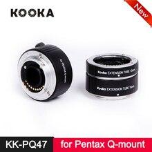 лучшая цена Micnova KK-PQ47 TTL Metal Extension Tube Set Copper AF Auto Focus for Pentax Q-Mount Camera Lens Close-up Image 10mm 16mm 21mm