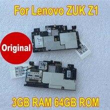 Placa mãe de trabalho testado 100% original, placa mãe para lenovo zuk z1 z1221 (3gb + 64gb) peças do telefone do cabo flexível da taxa do cartão do circuito