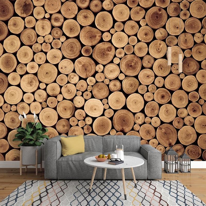 Custom 3D Photo Wallpaper Retro Nostalgia Wood Grain Cafe Study Living Room Sofa Bedroom Bedside Backdrop