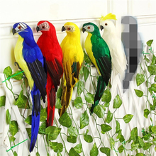 25/35cm Handmade Simulation Parrot Creative Feather Lawn Figurine Ornament Animal Bird Garden Prop Decoration