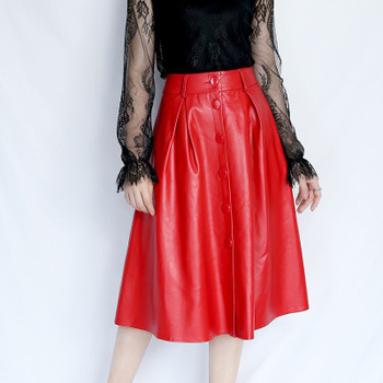 2020 Women Spring Genuine Real Sheep Leather Skirt E4 2020 women spring genuine real sheep leather pants e54