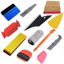 FOSHIO Carbon Fiber Vehicle Vinyl Wrap Window Tint Foil Film Tool Kit Car Accessories Magnetic Stick Squeegee Razor Scraper