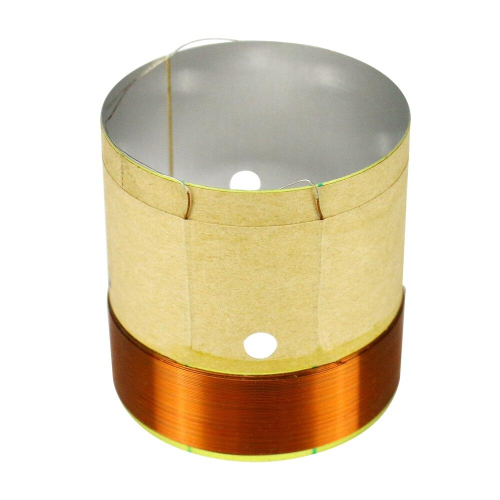 Taidacent 10 Pcs 1 Inch Aluminum Voice Coil Actuator With Vocal Vents 2 Layers Pure Copper Wire DIY Bass Loudspeaker Voice Coil
