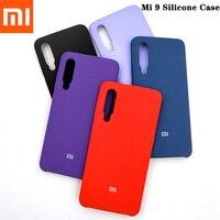 Xiaomi-funda Original Mi 9 con acabado suave, cubierta protectora de silicona líquida trasera para Xiaomi Mi 9 DE 6,39 pulgadas con Logo