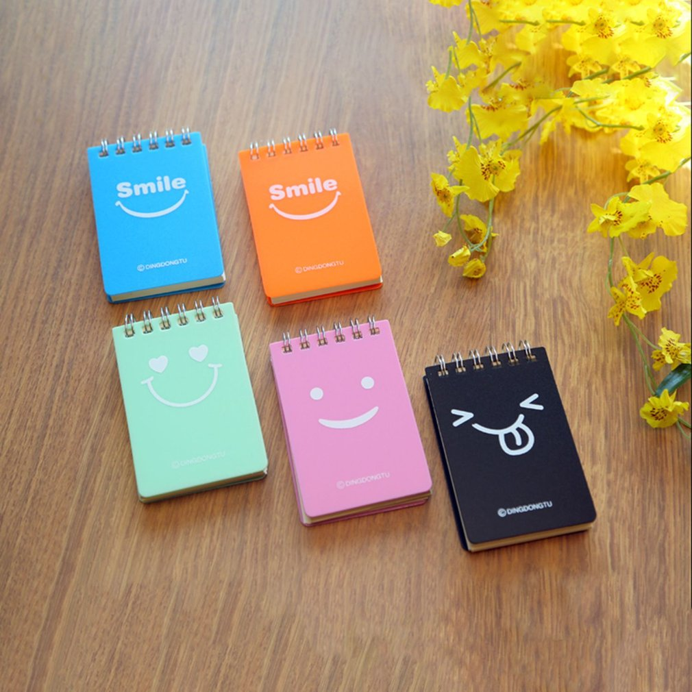 Cute Smile Face Design School Students Diary Journal Notebook Paper Sketch Book Office Stationery Notepad School Supplies 224K