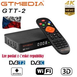 GTMEDIA GTT2 Smart tv box DVB-T2/кабель (J83.A/C)/ATSC-C/ISDBT android 6,0 2 ГБ 8 ГБ Amlogic S905D 4K H.265 WiFi IPTV телеприставка
