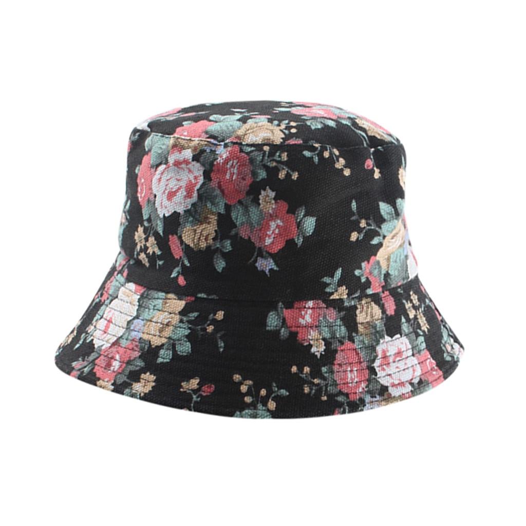 Fashion Bucket Hat Summer Fisherman Cap Print Floral Soft Cool Sun Hat for Men Women