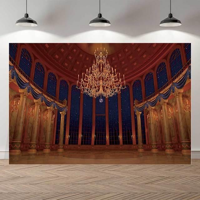 NeoBack vinyle beauté salle de danse enfants anniversaire photographie arrière plan Royal princesse fête bannière Studio Photocall toile de fond