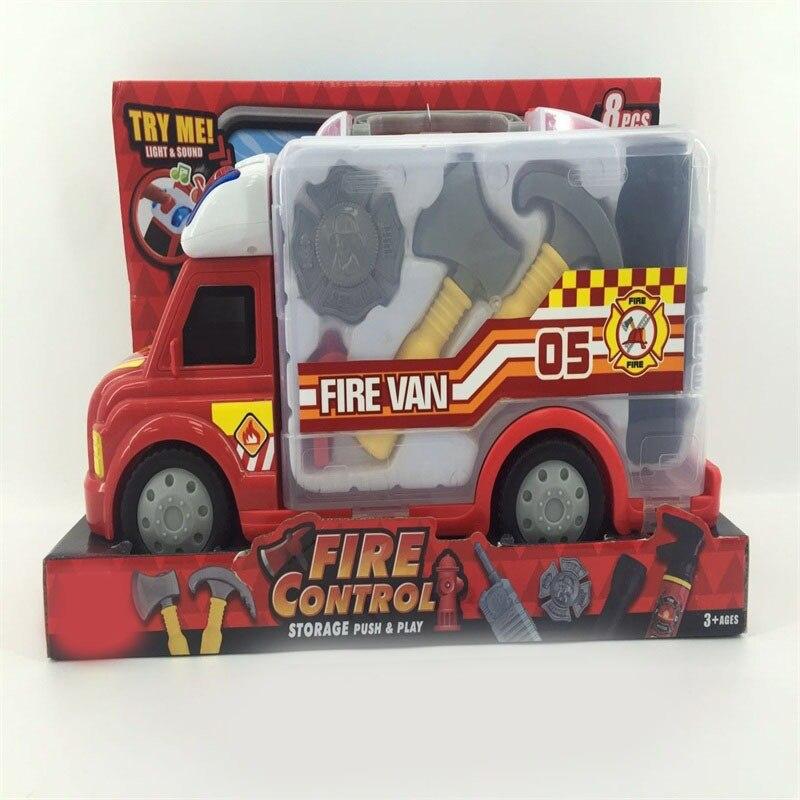 Children Fire Truck Toy Car Repair Kit Fire Truck Engineering Car Model Boy Fire Truck Toy
