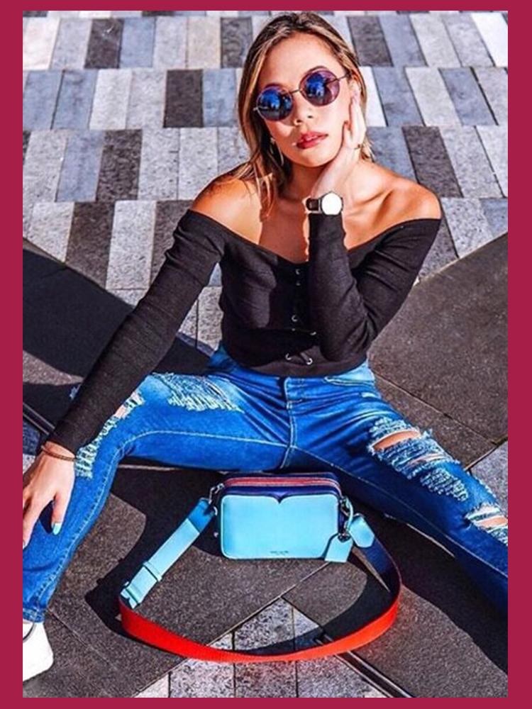Dotfashion Blue Ripped Bleach Wash Skinny Jeans Woman 2019 Spring Summer Casual Pants Denim Jeans Womens Korean Style Trousers