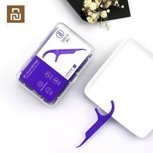 Youpin Soocas Toothpicks ทันตกรรม Flosser เทปมีดโกน 3 ใน 1 Soocare ทำความสะอาดทันตกรรมไหมขัดฟัน 50 PCS Toothpicks 12 กล่อง