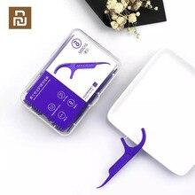 Youpin soocas palitos de dentes dental flosser raspador de fita 3 em 1 soocare limpeza profissional fio dental 50 pçs palitos 12 caixa