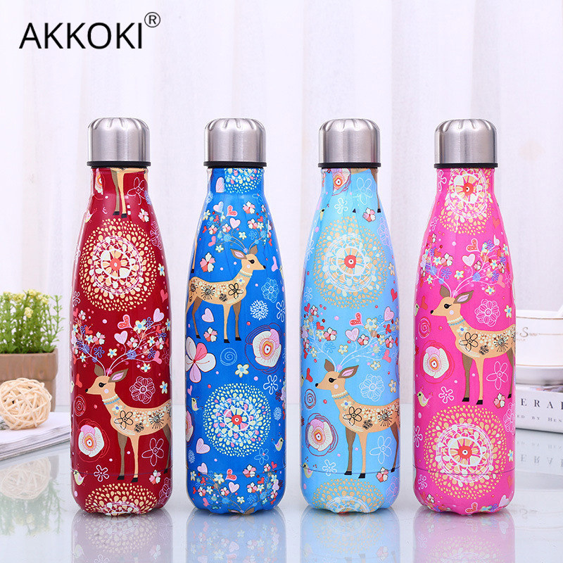 500ml Cartoon Deer Vacuum Cup Insulated Stainless Steel Water Bottle Coffee Thermos Portable Travel Sport Drink Bottle Gift|Water Bottles| |  - AliExpress