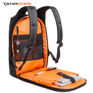 Image 4 - Tangcool Men Fashion Backpack 17.3 Inch Laptop Backpack Waterproof USB recharge Outdoor Backpack Daily School Rucksack