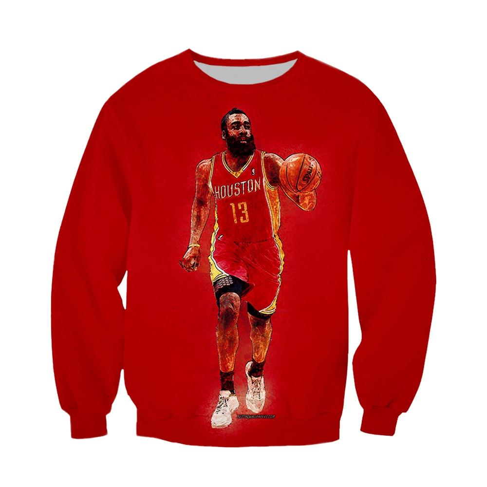 LBG 2019 New NBA 3D Print Long Sleeve All-Star James/Hardden/Kobe Bryant Sports Casual Harajuku