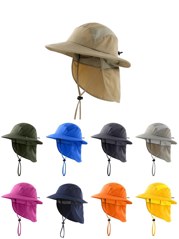Connectyle  UPF 50+ Boys Summer Sun Hat With Neck Flap Summer Beach Hat Kids Safari Hat