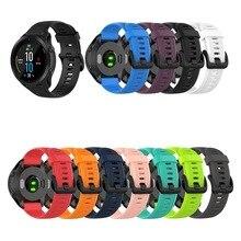 22มม.สำหรับ Garmin Forerunner 945 935 Fenix 5 Plus Fenix 6ซิลิโคนสมาร์ทนาฬิกากลางแจ้งกีฬากันน้ำ