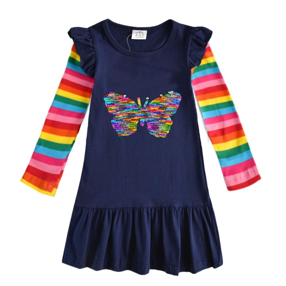 H78b6b90ac31f4584b26409d57a51d807P VIKITA Girls Cotton Dress Long Sleeve Children Patchwork Vestidos Kid Dresses for Girls Clothes Toddlers Cartoon Princess Dress