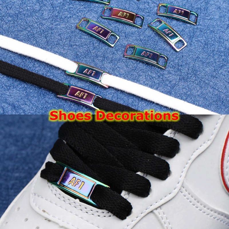 2pcs/pair AF1 Shoelaces Buckle Shoelace Buckle Metal Shoelaces Accessories Metal Lace Lock DIY Sneaker Kits Metal Lace Buckle